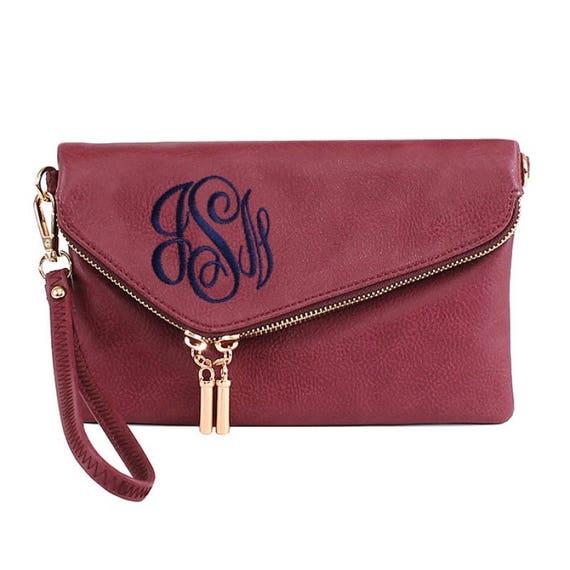 monogrammed clutch purse envelope clutch purse bridesmaid