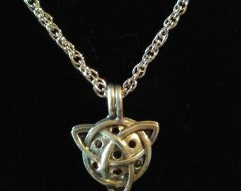 Celtic Trinity knot diffuser pendant necklace