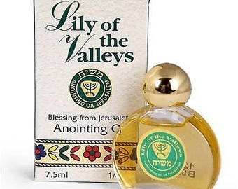 Lily of the Valleys - Anointing Oil 7.5 ml. Bible gift from Jerusalem