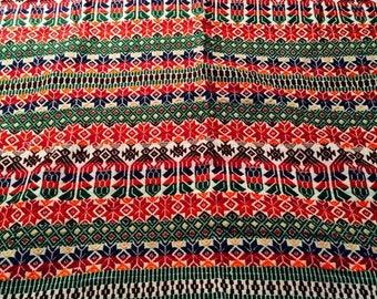 REDUCED Bohemian Hippie Rustic Tribal Textile Tablecloth Woven Linen