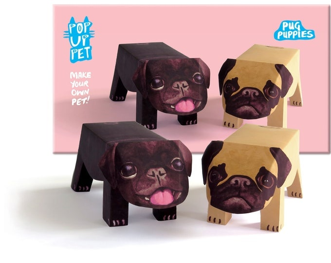 Pop Up Pet Dog - Pug Puppies