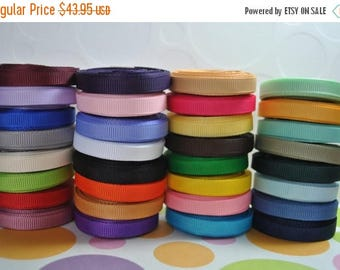 "ON SALE 330 yards 1/4"" grosgrain ribbon ( 10 yards each color)"