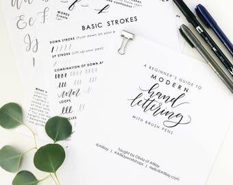 Modern Brush Lettering Workshop / Modern Calligraphy Class / Beginner's Lettering Class / Private Workshop