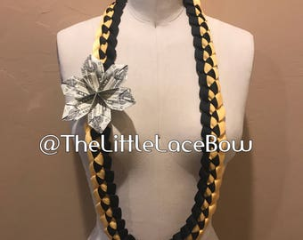 Graduation Lei-Crosgrain Ribbon w/ 1x Flower (3 Dlls)