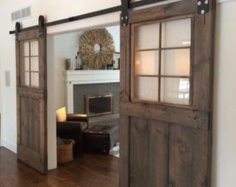 Custom window barn door for Jennifer plus hardware