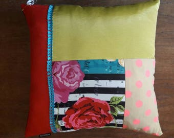Square pillow patchwork cushion