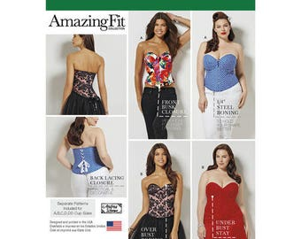 Simplicity 1183 Misses And Plus Size Corsets Sewing Patterns