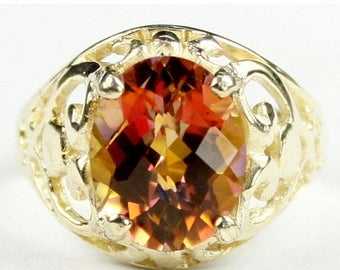 On Sale, 30% Off, Twilight Fire Topaz, 14KY Gold Ring R004
