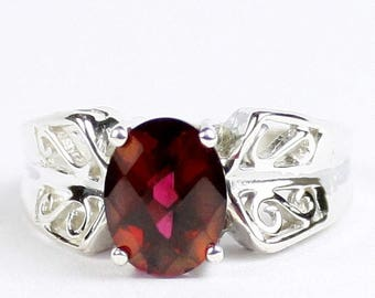 On Sale, 30% Off, Crimson Fire Topaz, 925 Sterling Silver Ring, SR281