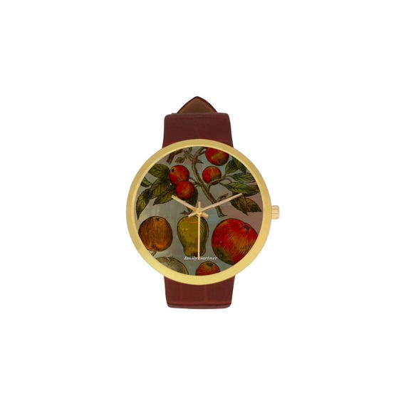 Botanical pears and apples watch