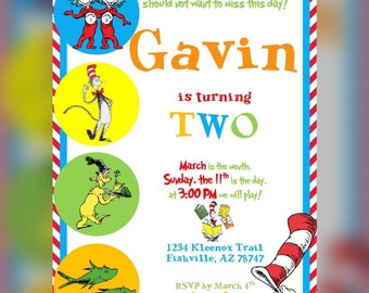 Dr. Seuss Birthday Invitation
