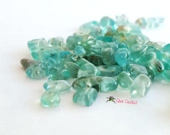 70 green Apatite stone chips