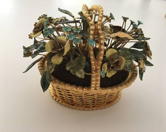 Jane Hutcheson for Gorham basket with flowers