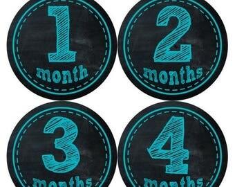Monthly Baby Milestone Stickers Baby Boy Baby Shower Gift One-Piece Baby Stickers Monthly Baby Stickers Baby Month Stickers  145