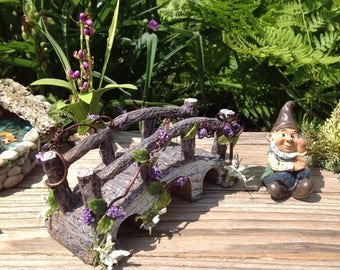 Miniature Fairy Garden Stone Bridge, Fairy Garden Bridge, Terrarium  Accessory, Fairy Garden Decor