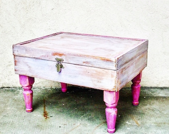 Lounge coffee table shabby chic upcycled