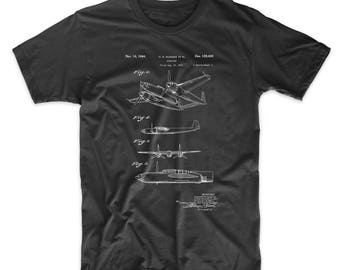 XP-58 Chain Lightning Airplane Patent T Shirt, Aviation Gift, Plane Shirt, Airplane T-shirt, PP0069