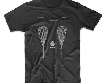 Lacrosse Stick 1948 Patent Shirt, Lacrosse Gifts, Sports T shirt, LAX, Coach Gifts, PP0199