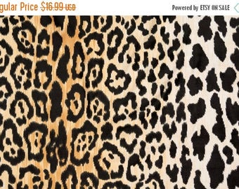 Velvety Cotton Leopard Print Fabric Braemore Jamil Multi Colored Floral Home Decor Fabric - By the 1/2 Yard