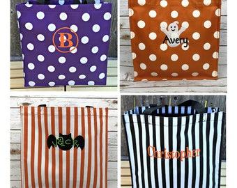 Trick or treat bag, Trick-or-treat bag, Halloween Bucket, Personalized, Halloween Basket, monogram, trick-or-treat, Halloween bag