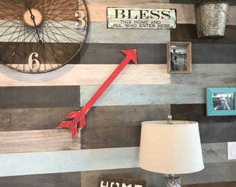 Rustic Wood Arrow, Red