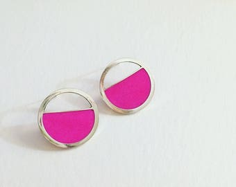 Pink Resin Earrings