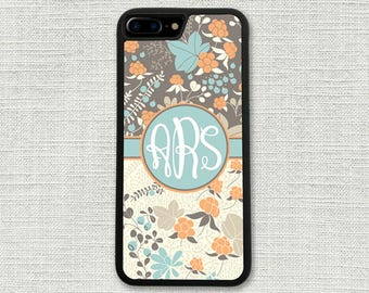 Monogrammed iPhone 7 Plus Case, iPhone 6 Case, Floral iPhone 6S, iPhone Accessory, Gift for Her, Woodlands iPhone 6S case, iPhone Case 1218