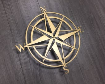 Compass Metal Wall Art - Abstract Wall Decor - Compass - Metal Art - Large Metal Wall Art - Exterior Art - Garden Art - Wall Art