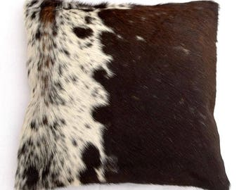 Natural Cowhide Luxurious Hair On Cushion/ Pillow Cover (15''x 15'') A79