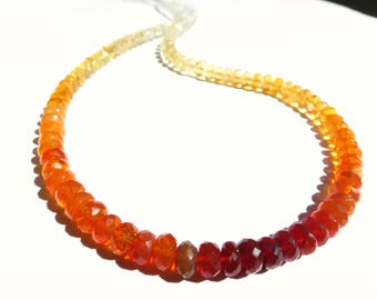Top Quality Fire Opal necklace Mexican fire opals orange gemstone collier summer necklace /FO25/ Natural gemstone necklace