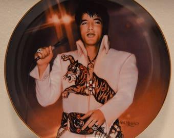 Bradford Exchange Jeweled Remembering Elvis The King Superstar Porcelain Plate