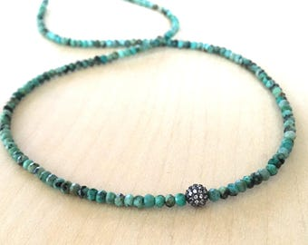 African Turquoise Necklace,