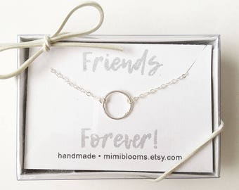 Best Friend Gift, Gift for Friend, Friend Gift, Infinity Necklace Sterling Silver, Karma Necklace, Eternity, Minimalist Jewelry