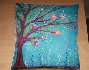 printed 45x45cm Cushion cover, linen and cotton