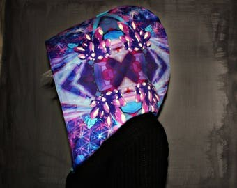 CRYSTALLIZE // Custom Organic Cotton Hood