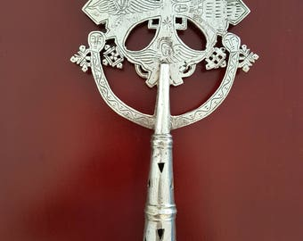Hand Crafted Ethiopian Orthodox Coptic Processional Cross