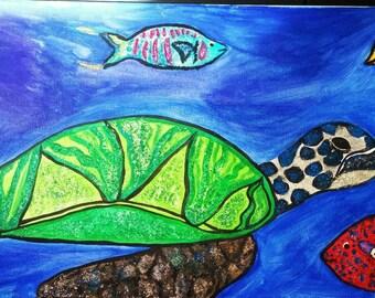 Sea Turtle on Reef