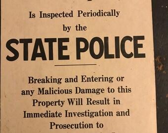 Warning Sign - New Hampshire