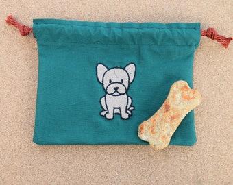French Bulldog Dog Treat Bag, Frenchie Dog Treat Bag, French Bulldog, Frenchie, Dog Treat Bag, Puppy Treat Bag, Bulldog Treat Bag