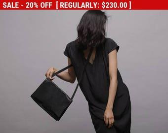 Black Shoulder Leather bag, Handmade women soft leather bag,  Leather messenger bag , Womens Satchel, Leather Cross Body Bag - Nico bag