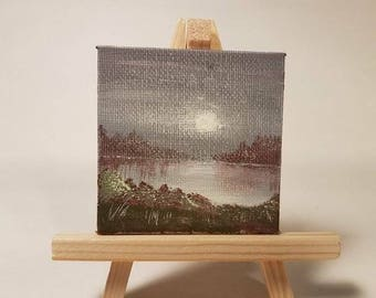 Original Miniature Acrylic Painting