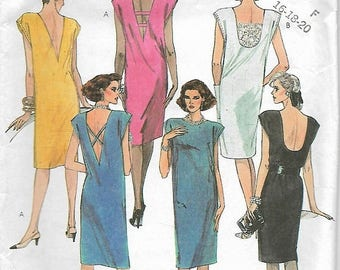 "25% OFF McCall's 2026  Misses ""Open Back""  Dress     Size 16,18,20     C1985   Uncut"