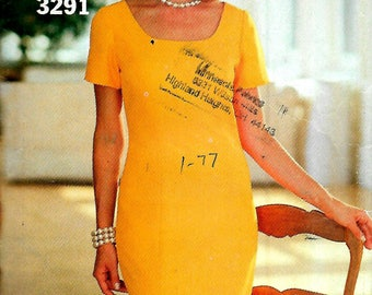 Butterick 3291  Misses/Petite Fitted Straight Dress with Princess Seams  Size 16-24     Uncut