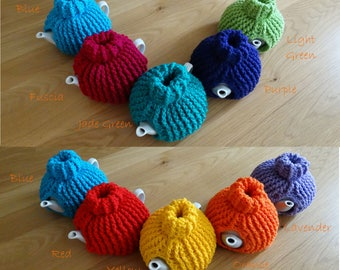 Polo Neck,Poloneck,Turtle Neck Retro Tea Cosy Tea Cozy 4 Cup Teapot Hand Made TO ORDER, Yellow,Red,Orange,Green,Blue,Purple,Lavender,Pink