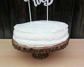 """SALECake stand 8"""", 9"""" 10"""", 12"""" cake holder,wood cake stand, wood slab, rustic cake stand, wedding, decor, rustic cake base, slab cake stand"""