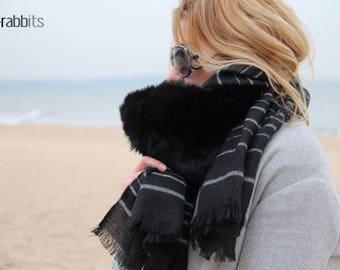 Rabbit Scarf/Genuine Rabbit Fur Scarf /Real Fur/Genuine Fur/Winter Fashion