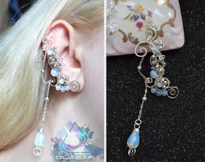 "Ear cuff ""Moon rose"" 