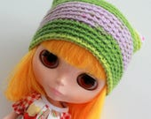 Egg Plant Kat Hat - A Crochet Blythe Doll Hat for Kenner Neo - Blythe Hat  - Crochet Beanie - Pullip - Blythe Clothes - Eriko's Emporium