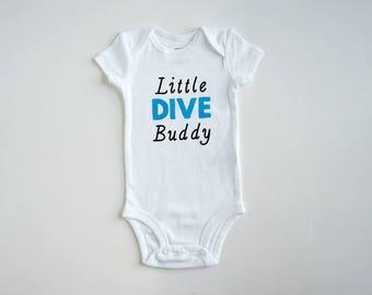 Scuba Diving Baby Romper ~ Scuba Diving Baby onesie ~ Scuba Bodysuit ~ Personalized Baby Onesie ~ Customized Baby Onesie ~ Little Dive Buddy