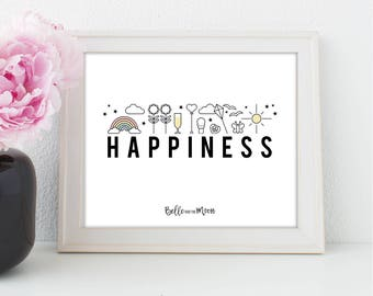 A4 Wall Art Print | Happiness